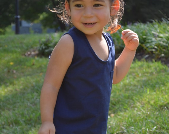 Kids Unisex Tank Top - Minimal Children's Clothes - Organic Cotton Top - Conscious Toddler Clothing -Natural Clothing for Kids