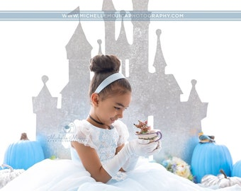 Toddler glove and accessory kit white, ivory, light blue. Flower girl, holiday, formal dress, pageants. Free Shipping! Luxe Little Cutie