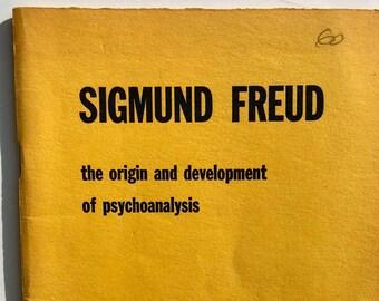 Vintage Sigmund Freud The Origin and Development of psychoanalysis Gateway Edition