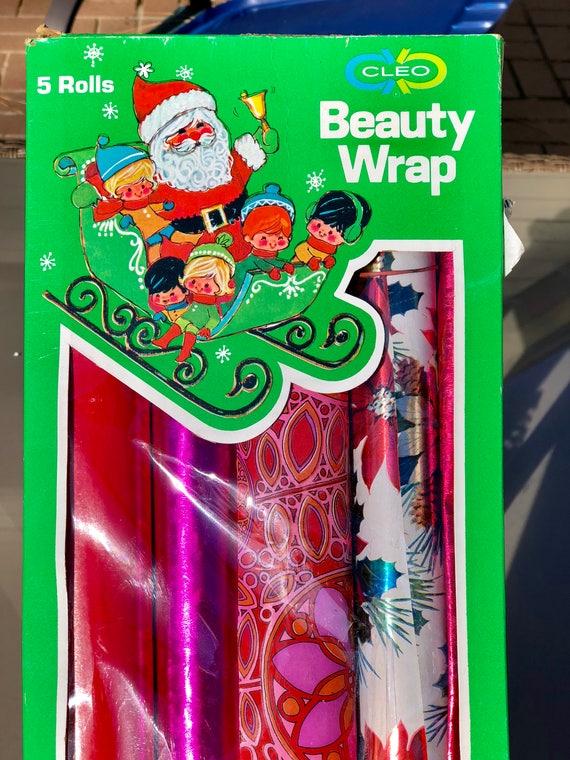 Ensemble vintage d'emballage papier beauté Wrap Noël Noël papier d'emballage de Noël Wrap 235155