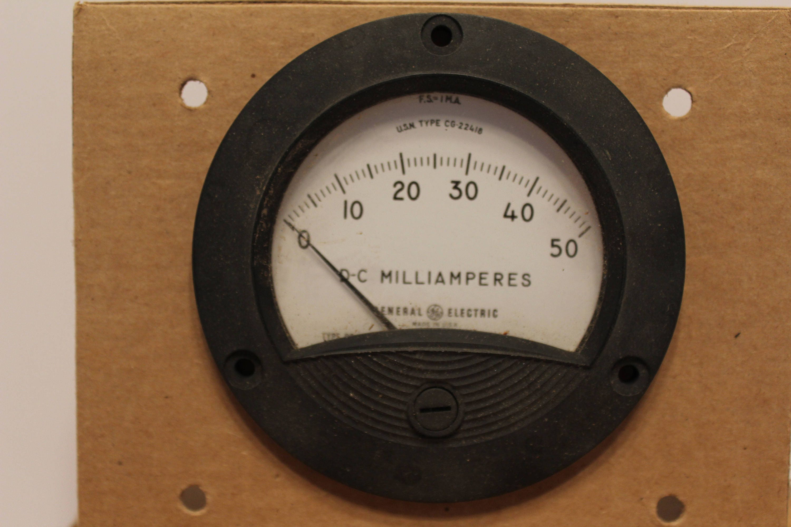 Ammeter Dc Milliamperes 1950s Nos In Original Box With Etsy Fuse