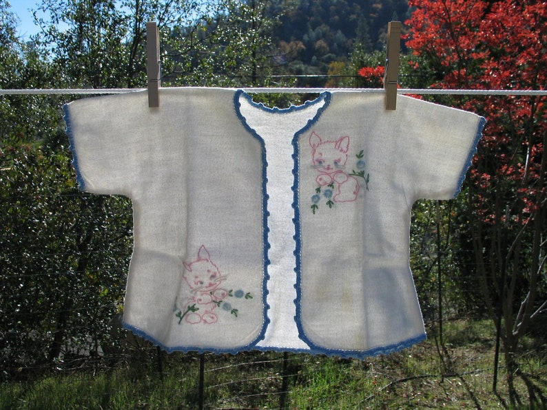 Baby Boy Coat  Baby Shower Vintage Embroidered Baby Capelet Baby Layette Baby Layette