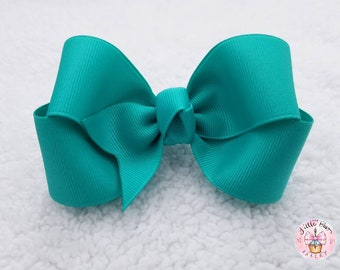 9cec38c0c51d57 Blue Lagoon Boutique Hair Bow, 4 inch bow, girls hair bows, Twisted Boutique,  Turquoise Hair Bows, Spring Hair Bows, Blue Toddler Headband