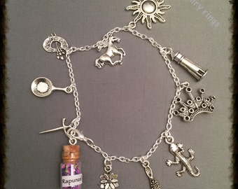 Fairy Tale Rapunzel Charm Bracelet