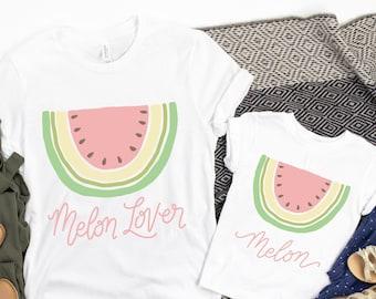 Watermelon Birthday Mommy & Me Shirts, Melon Lover and Melon Tshirt, One in a Melon Shirt, Boho Watermelon Shirt for Women, Watermelon Baby