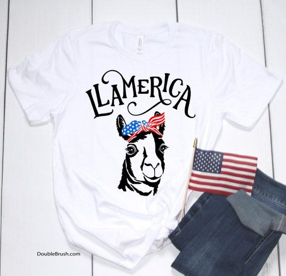 Llamerica American Flag Llama 4th of July USA Women Hoodie