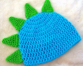 a8fc3ef19ec Crochet Baby Dino Dragon Hat - Made To Order - You Choose Colors