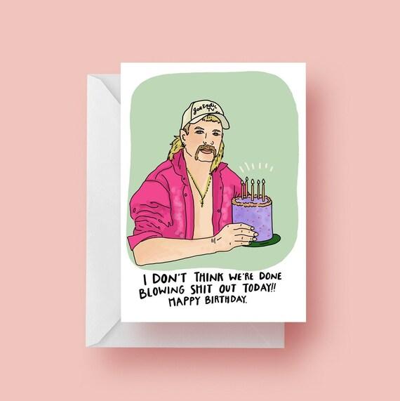 Amazing Funny Joe Exotic Tiger King Cake Birthday Greeting Card Etsy Funny Birthday Cards Online Overcheapnameinfo