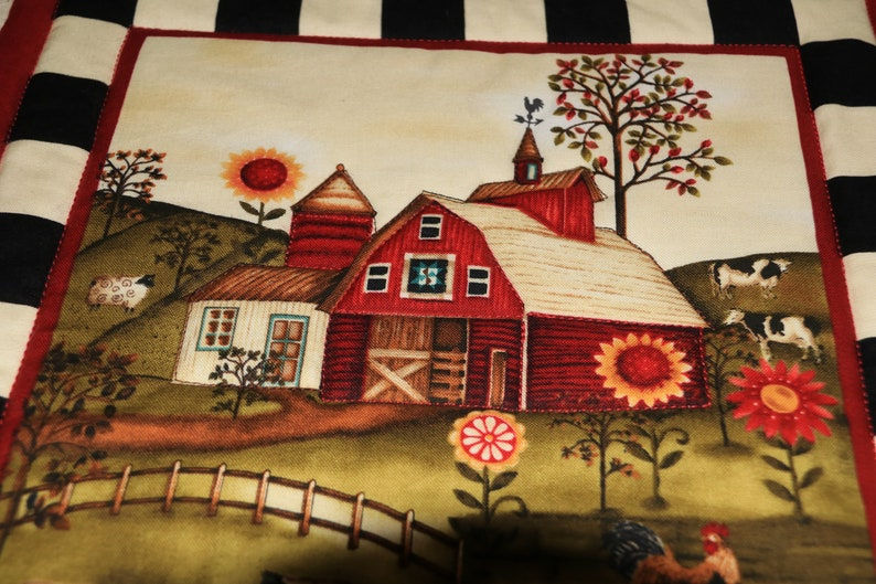Quilted Hot Pad 11 Fabric Trivet