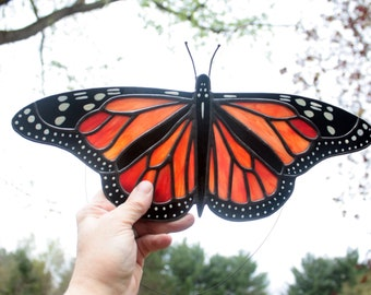Monarch Butterfly Stained Glass Sun Catcher, Wildlife Art, Glass Art, Wildlife Art, Gifts for Her