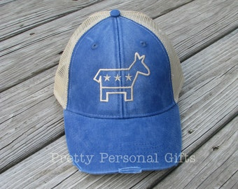 Political Party Hat, Democrat Donkey Hat, Republican Elephant Hat, Democrat Party Hat, Republican Party Hat, Political Hat
