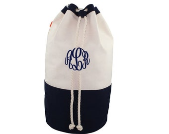 Canvas Laundry Bag, Monogrammed Canvas Laundry Bag, Graduation Gift, College Laundry Bag, Laundry Duffle Bag
