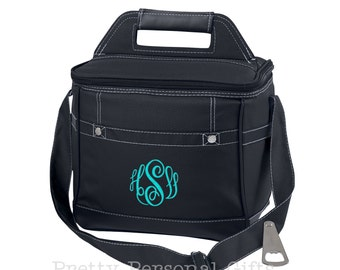 Personalized Cooler Bag, Bridesmaid Cooler, Personalized Cooler, Wedding Party Cooler, Bridal Party Cooler, Monogram Cooler, Wedding Cooler