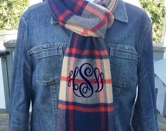 Knit Scarf - Personalized Winter Scarf with monogram - Free Shipping