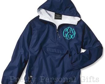 Monogram Pullover, Monogrammed Jacket, Monogram Windbreaker, Monogrammed Windbreaker, Charles River Jacket, Monogrammed Pullover