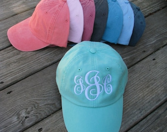Monogrammed Baseball Hat - pigment dyed - unstructured