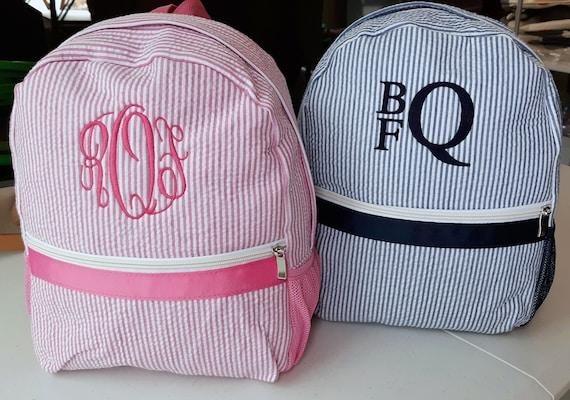 BackpackSeersucker BackpackGRAY Seersucker Child/'s Backpack