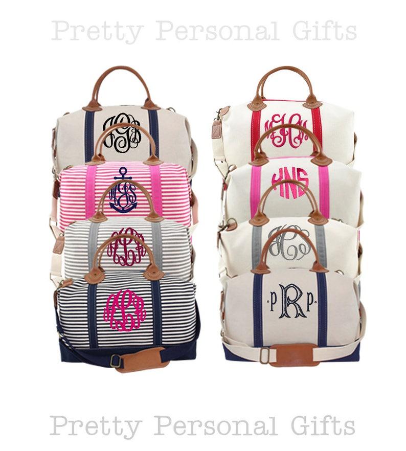 9757d696b4c Bridesmaids Duffle Bag, Weekender Bag Monogrammed, Monogram Weekender Bag,  Bridal Party Gift