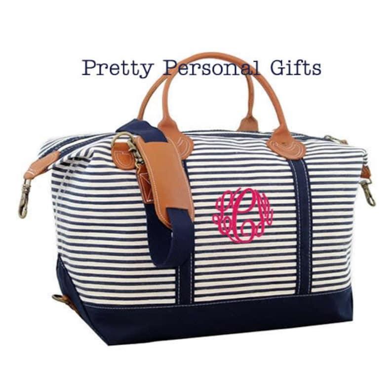Monogram Weekender Bag Weekender Bag Overnight Bag Travel image 0