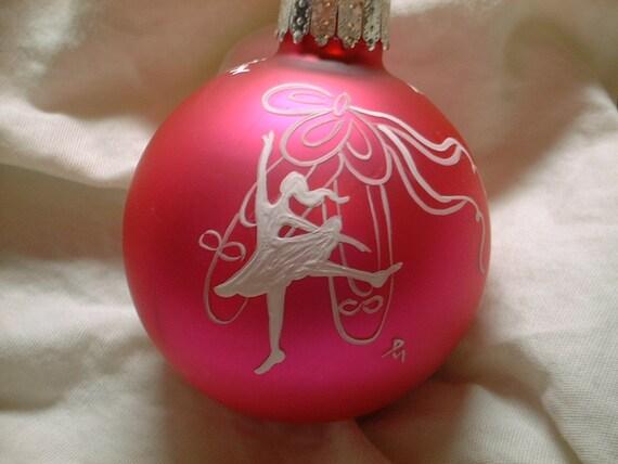 Von Hand Bemalt Ballerina Weihnachtskugel Personalisierbar Etsy