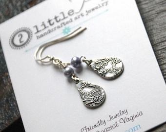Serenity Drop Earrings, Cool water Jewelry, Bridesmaid Gift
