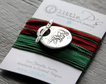 Bear Silk Wrap Bracelet NEW DESIGN Forest Bear