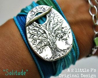 Solitude Handcrafted Artisan Silk Wrap Bracelet