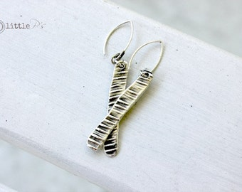 Art Jewelry ~ Handcrafted  Pure Silver Textured Earrings