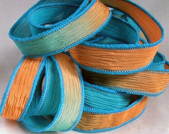 Silk Wrap Ribbon, Silk Ribbon Wrap ~ Tropical Silk Wrap Ribbon - One Ribbon