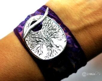Vegan Wrap Braclet Solitude Handcrafted Artisan Vegan Wrap Bracelet Cotton Wrap Bracelet