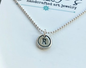Typewriter Key Letter Necklace for Mom