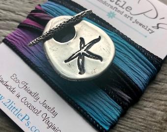 SHIPS TODAY Starfish Wrap Bracelet, Beachy Jewelry, Ocean Jewelry, Silk Wrap Bracelet, Starfish Bracelet