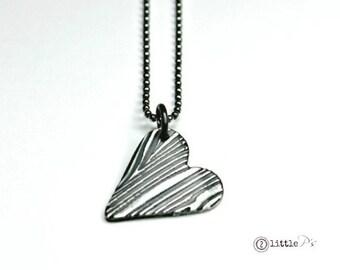 Tree Bark Heart Necklace - Gift for Her Tree Bark Hearts Heart Necklace True Love Original Design