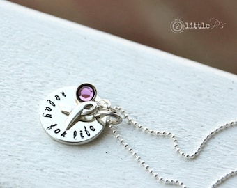 Relay for Life Necklace, Cancer Sucks, Faith Hope and Love, Gift for her
