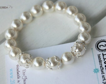 READY to SHIP - SALE - Pearl Elements Bead Bracelet, Swarovski Pearl Elements, Gift for Her