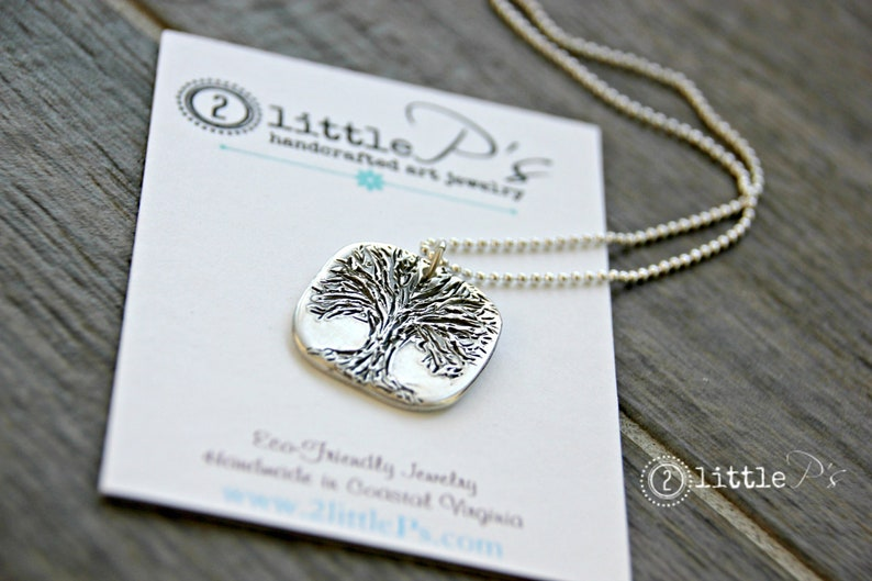 Tree of LIfe Pendant 99 Percent Pure Silver Necklace image 0