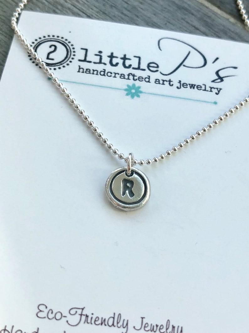 Typewriter Key Letter Personalized Jewelry Minimalist Letter image 0