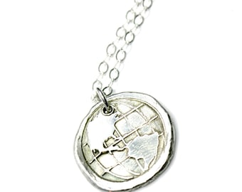 READY to SHIP - SALE World Jewelry Globe One World Gift for her Love the World