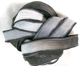 Silk Wrap Ribbon, Silk Ribbon Wrap ~ Fall Silk Wrap Ribbon - One Ribbon