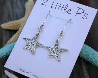 READY to SHIP - SALE - Beach Jewelry, Starfish earrings, Gift for her