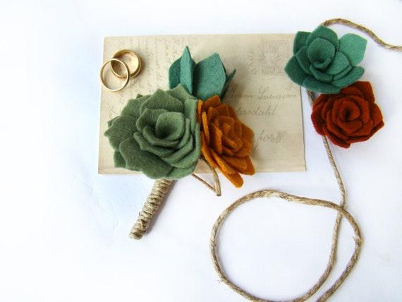 ROSE nozze SPILLA arte rose per il sposo testimoni o ospiti