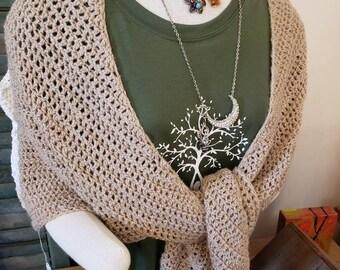 """Lovely Fawn"""" alpaca shawl"""