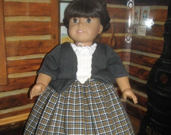 """American Girl 18"""" Doll Charcoal Outlander Claire Dress and Accessories"""