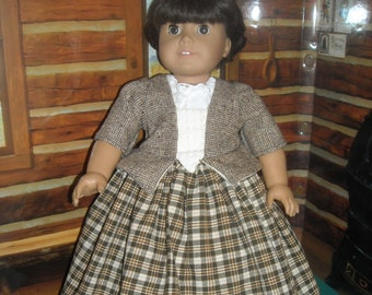 """American Girl 18"""" Doll Brown Outlander Claire Dress and Accessories"""