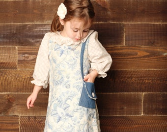 Uptown Girl - Girl's A-Line Dress PDF Pattern. Sewing Pattern for Girls.  Sizes 1-10 included