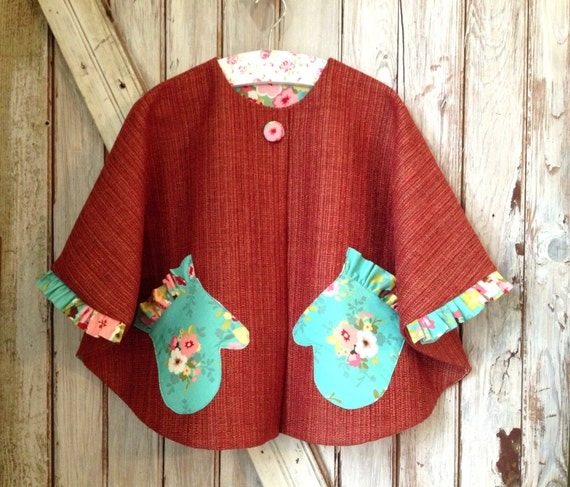 Gwendolyn Girl's Cape Pattern Easy Girl's Sewing Etsy Classy Toddler Cape Pattern
