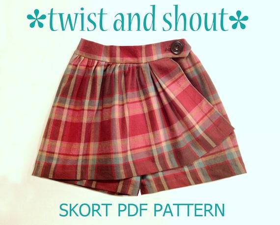 Twist & Shout Mädchens Skort Muster PDF. Schnittmuster für | Etsy
