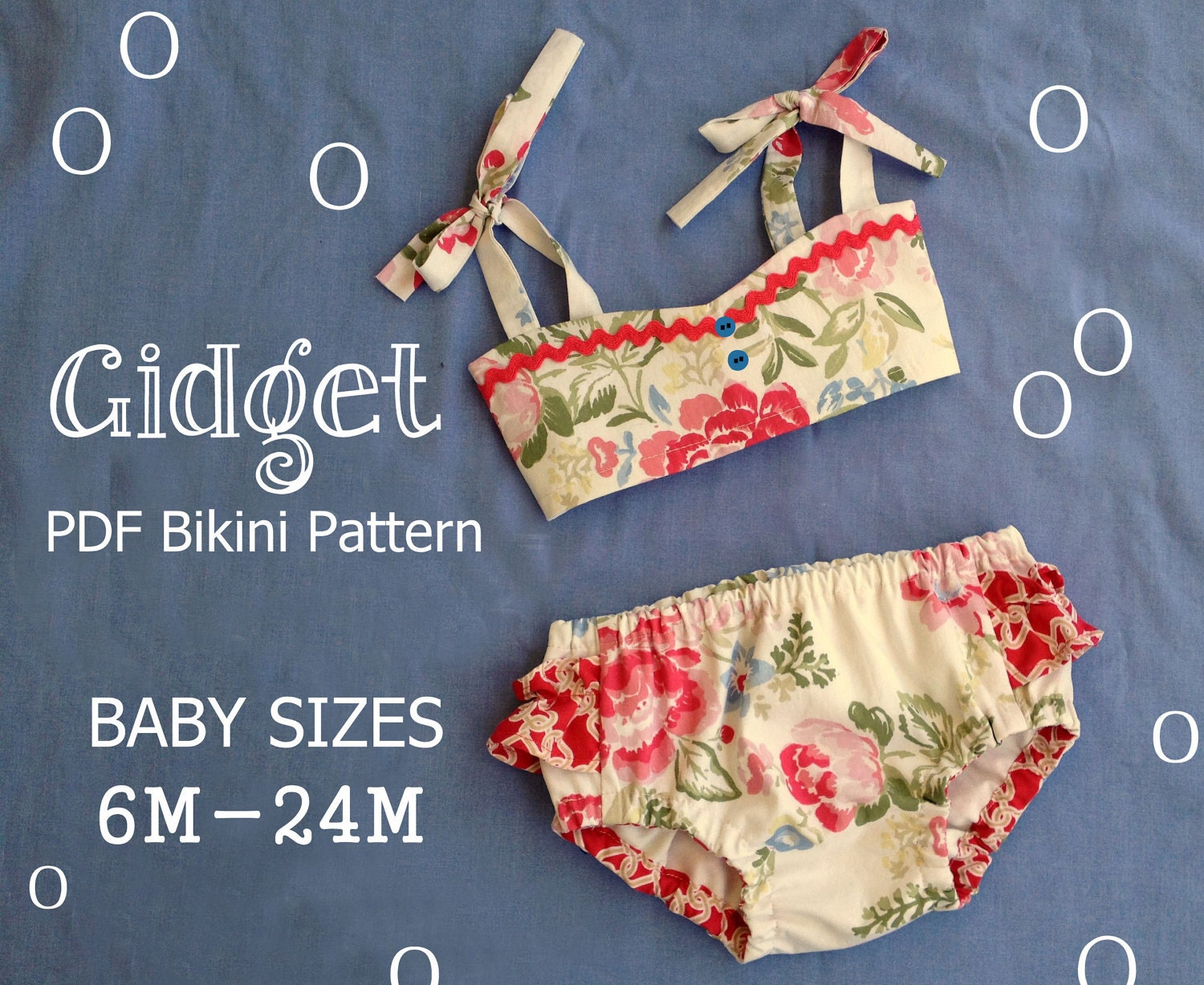Gidget Baby Bikini Sewing Pattern Retro Swimsuit Pattern