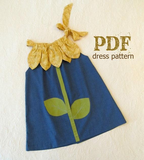 Sunny Flower Pillowcase Dress Girl Sewing Pattern PDF | Etsy