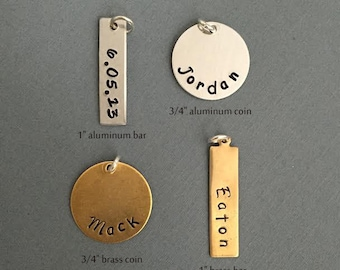add on hand stamped charm by jewelmango